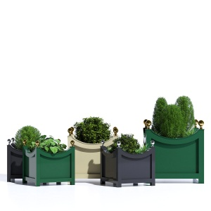 Curved Aluminum Tree Box Outdoor Planter