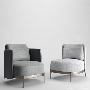 Tape armchairs by Minotti