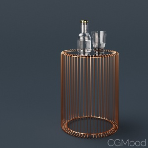 Copper wire side table