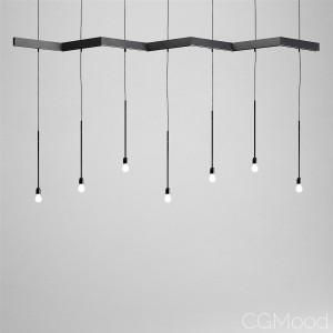Zig-Zag suspension light by CSMA