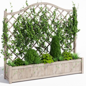 Oxford Wooden Trellis Planter