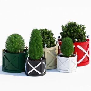 Round cross planters
