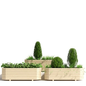 Pine Octagonal Trough Planter