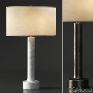ITALIAN FLARED COLUMN MARBLE TABLE LAMP