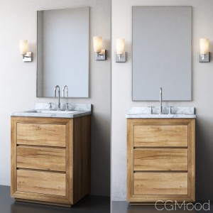 RECLAIMED RUSSIAN OAK POWDER VANITY