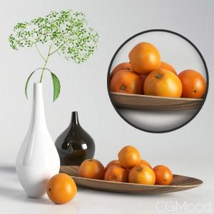 Decorative set with oranges