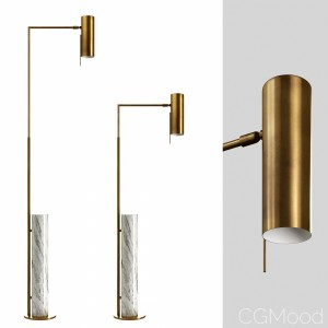 Alma Floor Lamp Brass