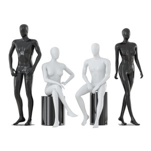 Four Faceless Mannequins Two Male And Two Female 3