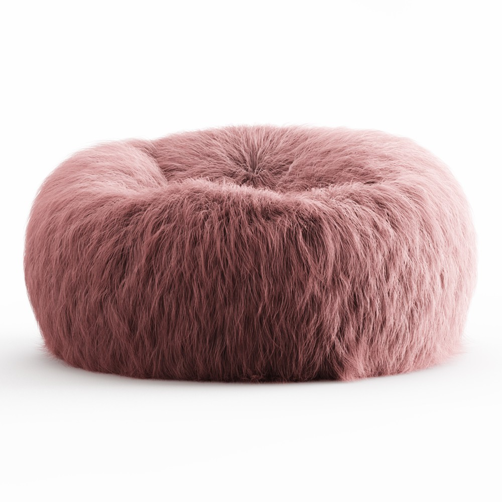 Swell Himalayan Faux Fur Beanbag 3D Model For Vray Pabps2019 Chair Design Images Pabps2019Com