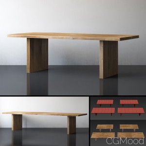 PLANK RECTANGULAR DINING TABLE Large