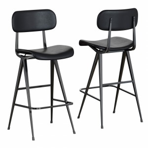 Industry West Madwell Bar Leather Stool