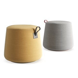 Hightower Round Kona Pouf by Most Modest