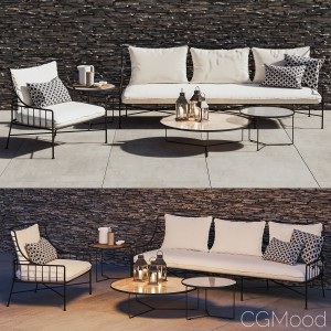 Cb2 Breton Chair And Sofa Set