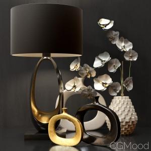 Lamp And Decorative Set
