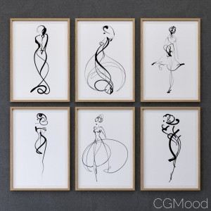 Female silhouette frame