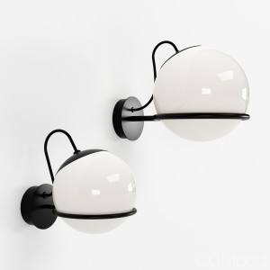 Wall Lamp model 237_1 & 238_1 By Astep