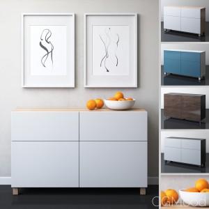 IKEA BESTA Storage combination with doors/drawers