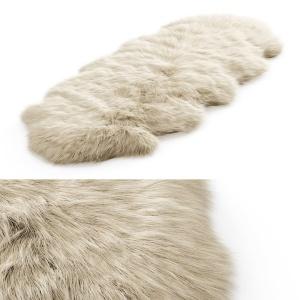 Fluffy Decorative Carpet Made Of Icelandic Sheepsk