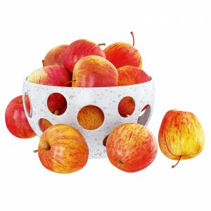 Red Apples In A Decorative Vase With Round Hole