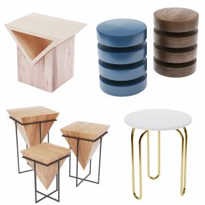 Side Tables . Set 04 (3d-model)