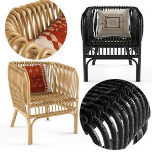 Isabella Rattan Barrel Arm Chair Opalhouse
