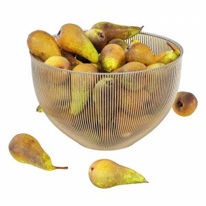 Pear Conference In Decorative Metal Vase