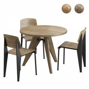 Vitra Gueridon Table & Vitra Standard Chair