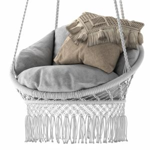 Deluxe Macrame Chair With Fringe