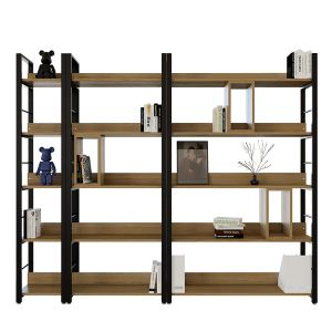 TS FURNITURE 5-TIER STEE BOOKSHELF BLACK