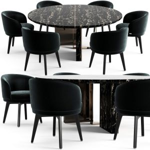 Fendi Casa Prisme Marble Table And Doyle Chair