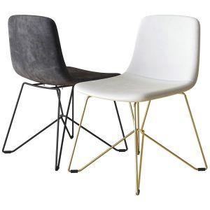 Vela Upholstered Chair Calligaris