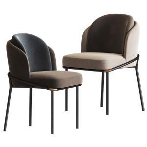 Fil Noir Dining Chair Minotti