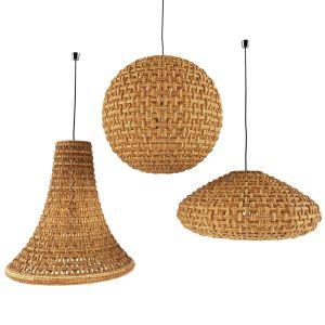 Natural Wicker Rattan Lamp
