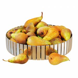 Pear Conference In Metal Round Vase