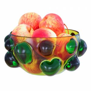 Apples In A Patterned Round Vase