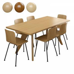 Vitra Table Solvay & Hal Tube Chair