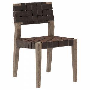 Restoration Hardware Vero Leather Side Chair