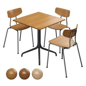 Vitra Belleville Table & Vitra Moca Chair