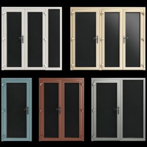 Stained Aluminum Fire Doors