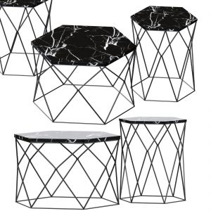 Hexagon Console And Coffee Table
