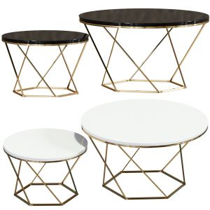 Indiskie Round Nesting Coffee Table Set