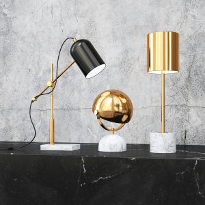 Lowe Table Lamp In White Marble