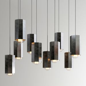 Hex Light Pendant By John Beck Steel