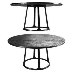 Black Round Wooden Table