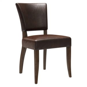Restoration Hardware Adele Leather Side Chair