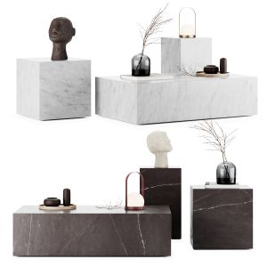 Menu - Plinth Tables Set With Decor