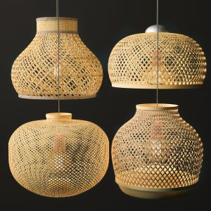 Rattan Lighting Set 3