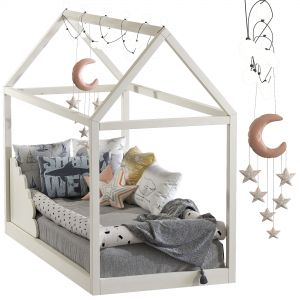 Children's bed with columns 8 Set 102
