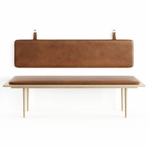 Leather Bench By Thornam