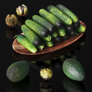 Cucumbers, Chestnuts And Avocados